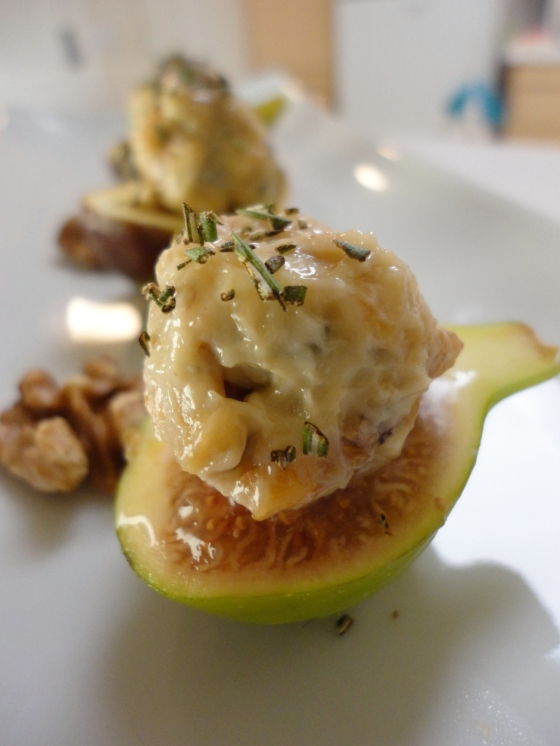 Blue Cheese, Honey and Fig Appetizer