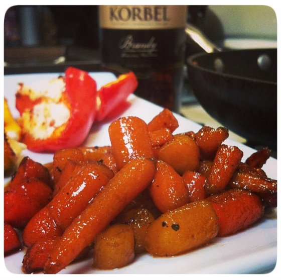 Brandy Glazed Baby Carrots