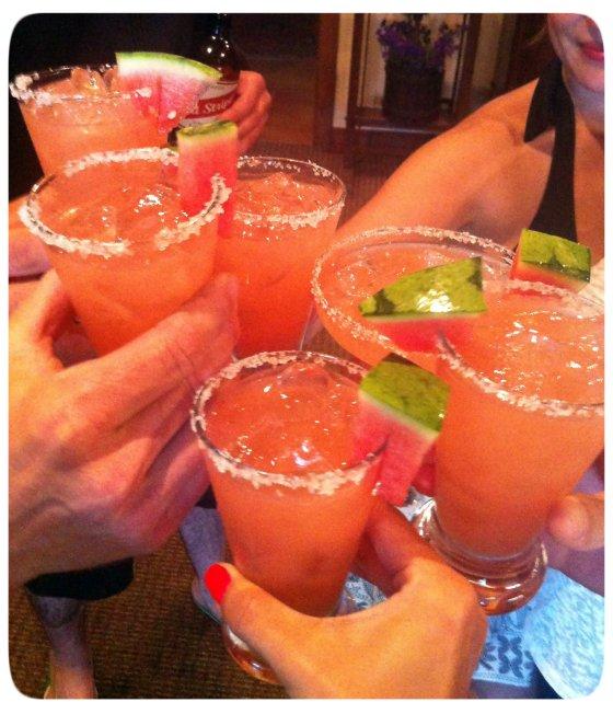 Watermelon Jalapeño Margaritas