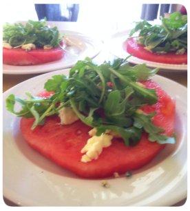 Watermelon Salad Close up