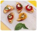 Tomato Peach Crostinis