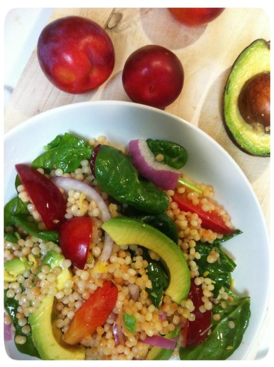 Plum Avocado Salad