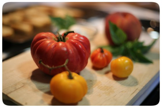 Heirloom Tomato Crostini