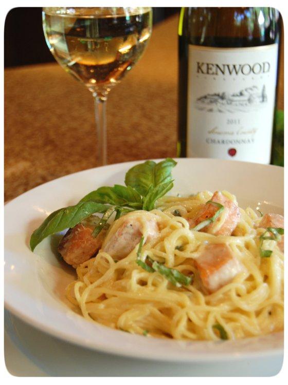 Salmon Pasta & Chardonnay