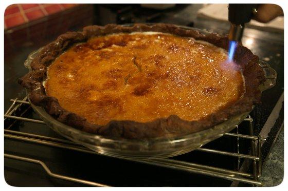 Brulee Pumpkin Pie