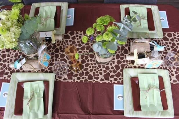 Safari Baby Shower Table