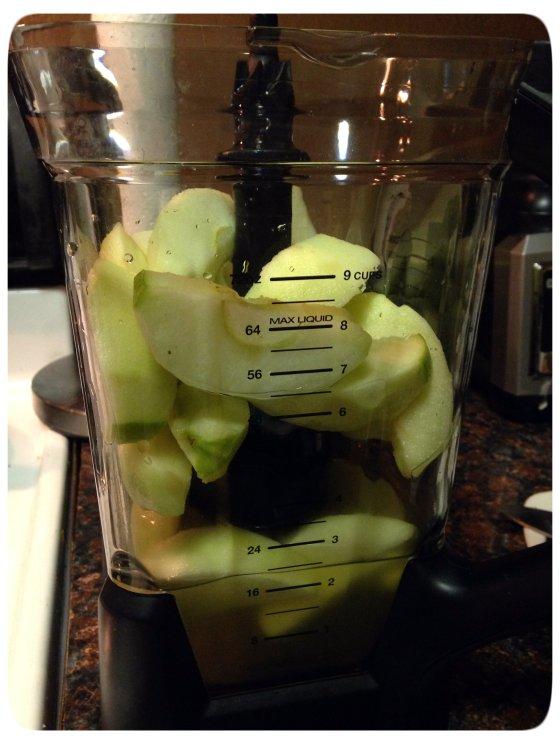 Apples & Broth in Blender