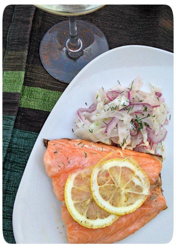 Salmon Fennel Slaw | Aprons & Stilettos