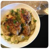 Chicken Fricassee with Gnocchi