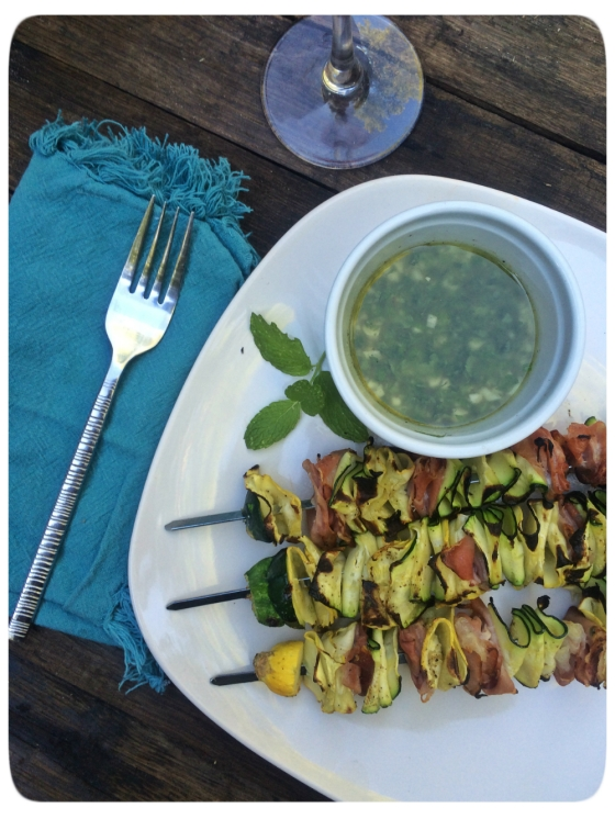 Squash Ribbon Skewers