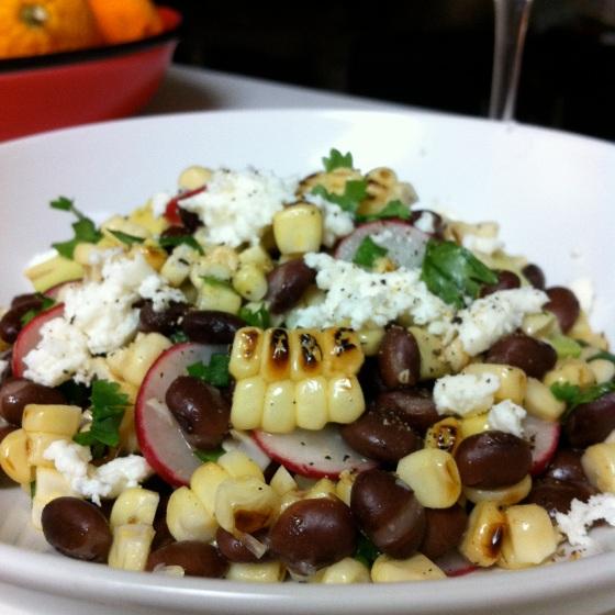 Grilled Corn Salad | Aprons & Stilettos