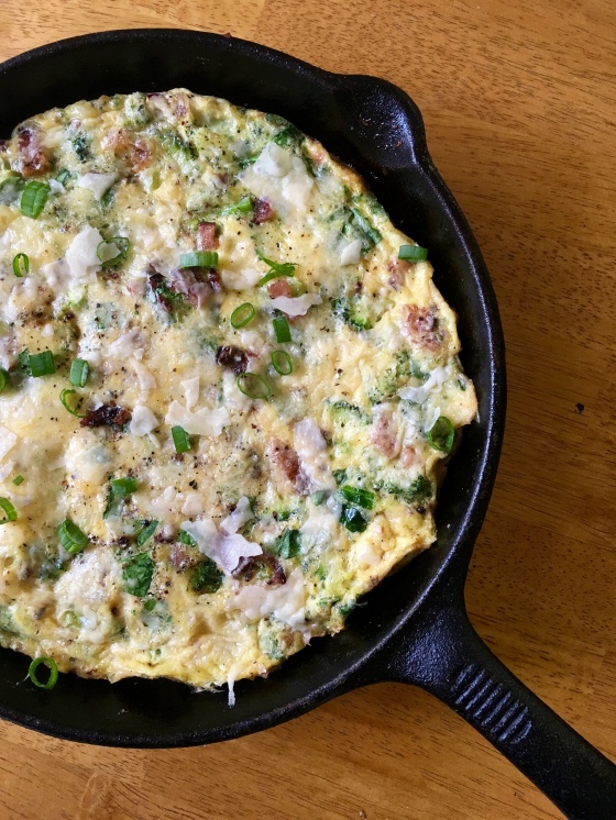 Bacon Broccoli Frittata