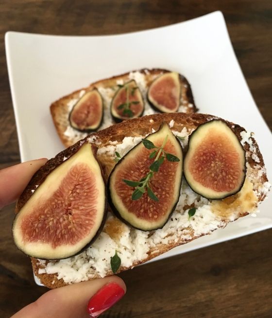 Goat Cheese Fig Toast